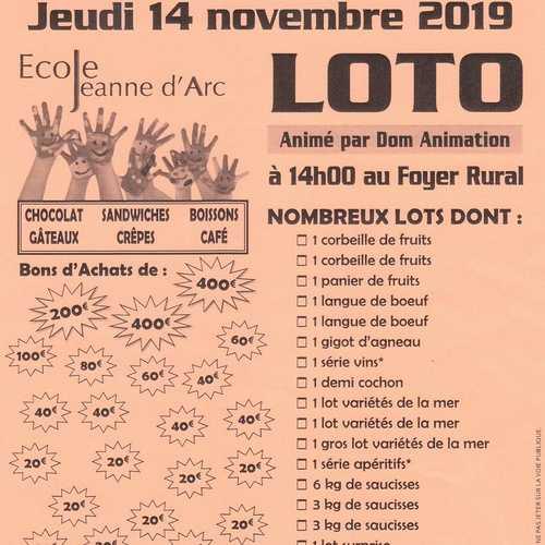 Jeudi 14 novembre : loto