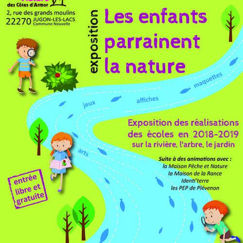 """Du lundi 24 juin au dimanche 14 juillet 2019 : exposition """"les enfants parrainent la nature"""""""
