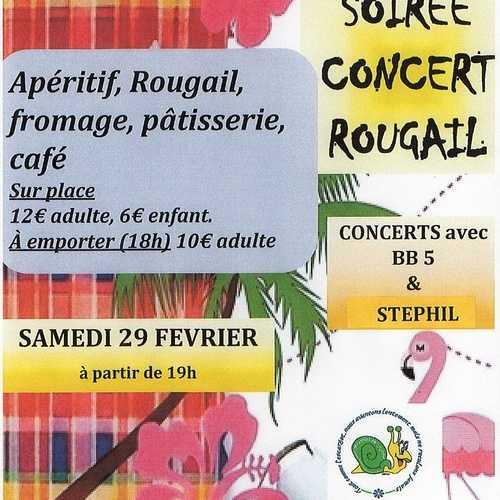 Samedi 29 février : soirée rougail/concert -association C.L.O.E