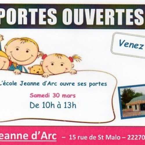 Samedi 30 mars : Portes ouverts, Ecole Jeanne d''Arc