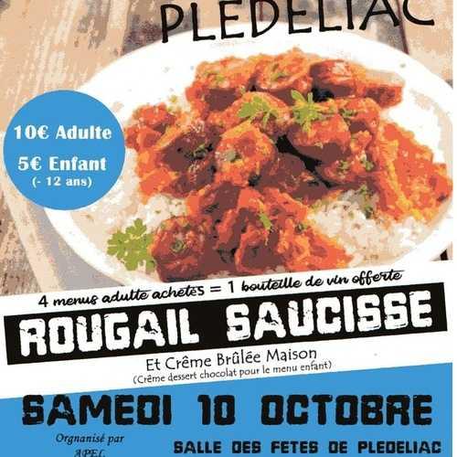 Samedi 10 octobre : repas à emporter