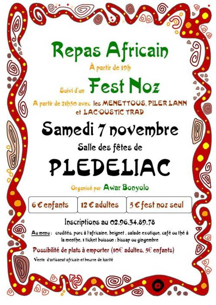 Samedi 7 novembre - Repas africain suivi d''un fest noz 0
