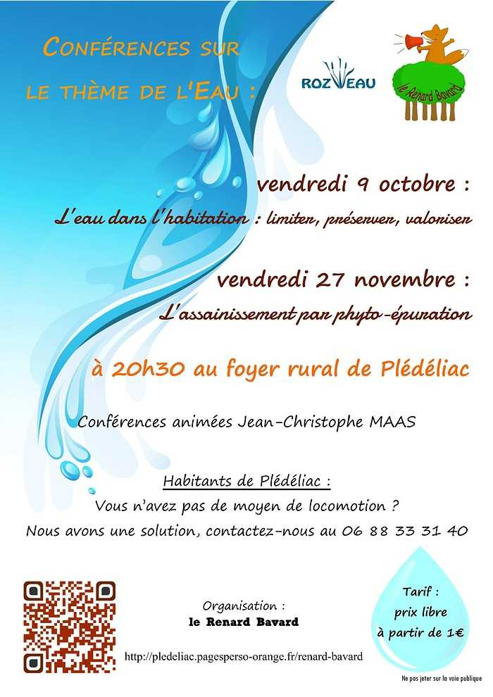 vendredi 9 octobre - conférence sur l''eau 0