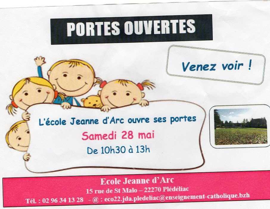samedi 28 mai - portes ouvertes - école Jeanne d''Arc 0