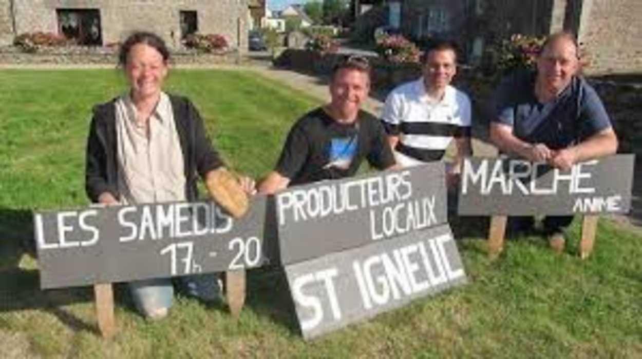 Marché des producteurs locaux à Saint-Igneuc 0