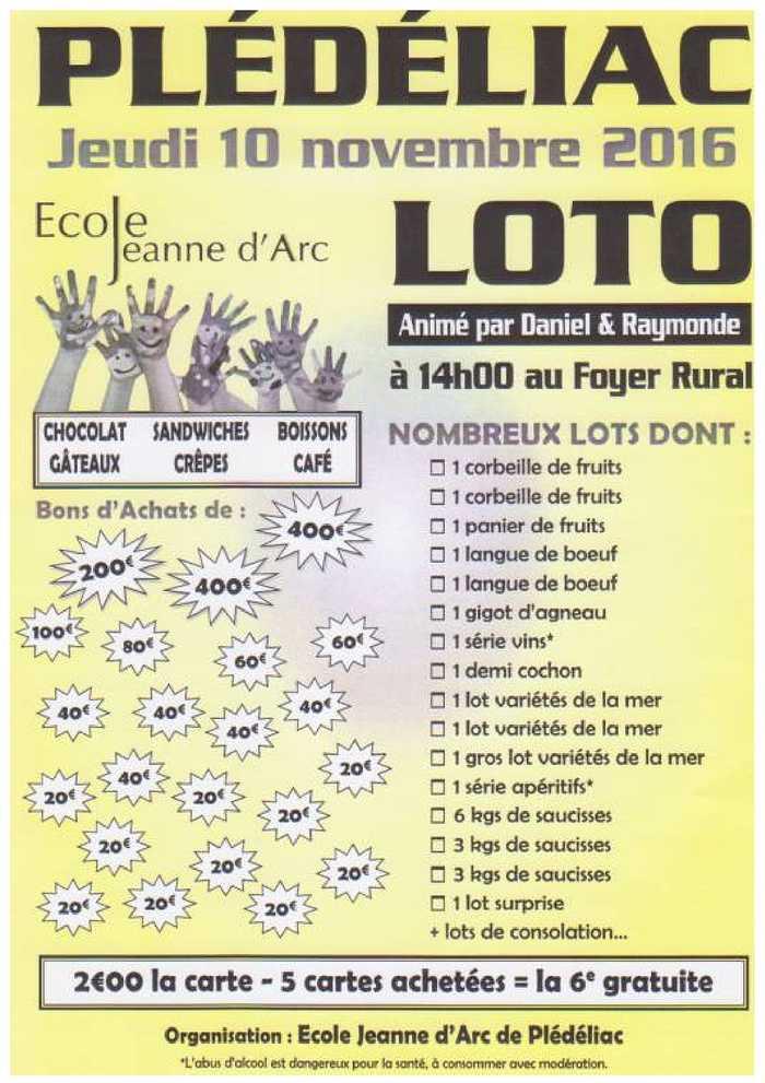 Jeudi 10 novembre - loto 0