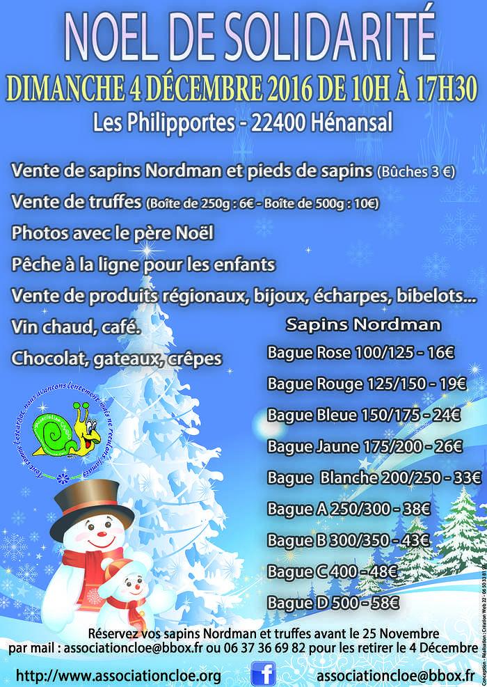 Dimanche 4 décembre de 10h à 17h30- Noël de solidarité 0