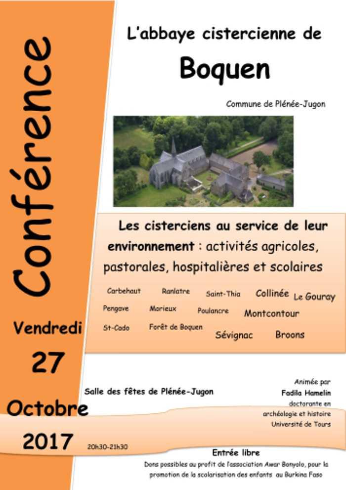 Vendredi 27 octobre : conférence abbaye de Boquen 0