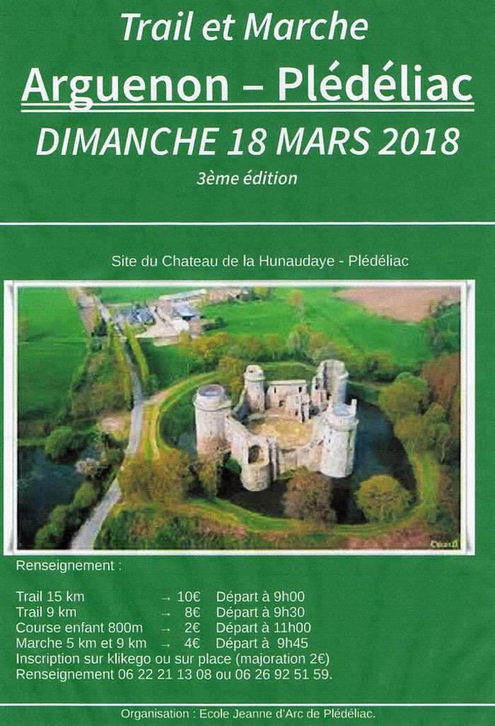 3ème édition du trail Arguenon Hunaudaye - dimanche 18 mars 0