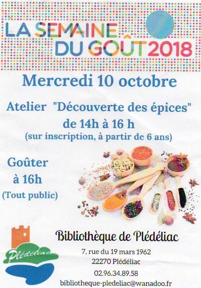 """ce mercredi à la Bibliothèque : atelier """"découverte des épices"""" 0"""