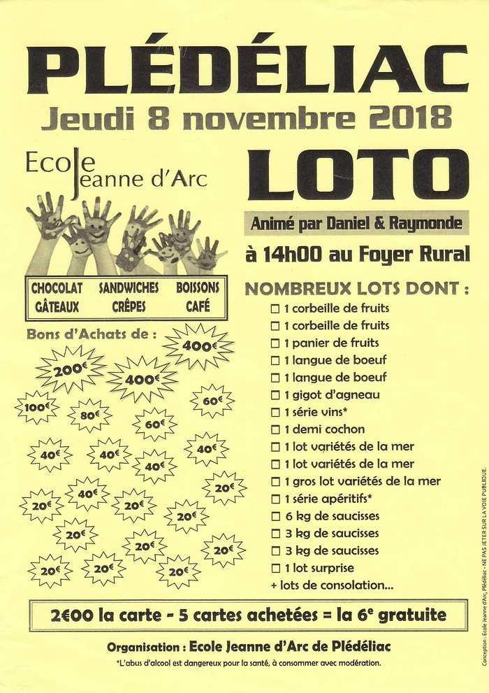 Jeudi 8 novembre : loto 0