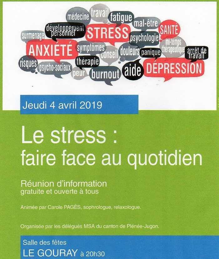 Jeudi 4 avril : le stress, faire face au quotidien 0