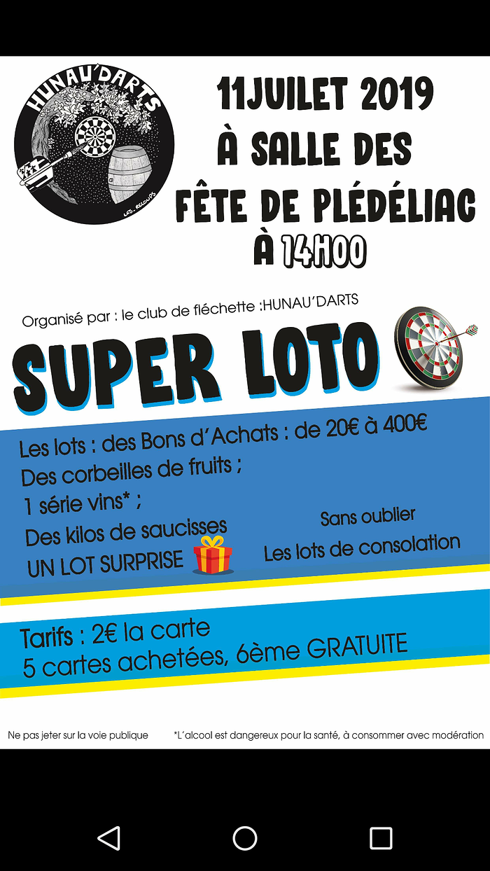 Jeudi 11 juillet : super loto 0