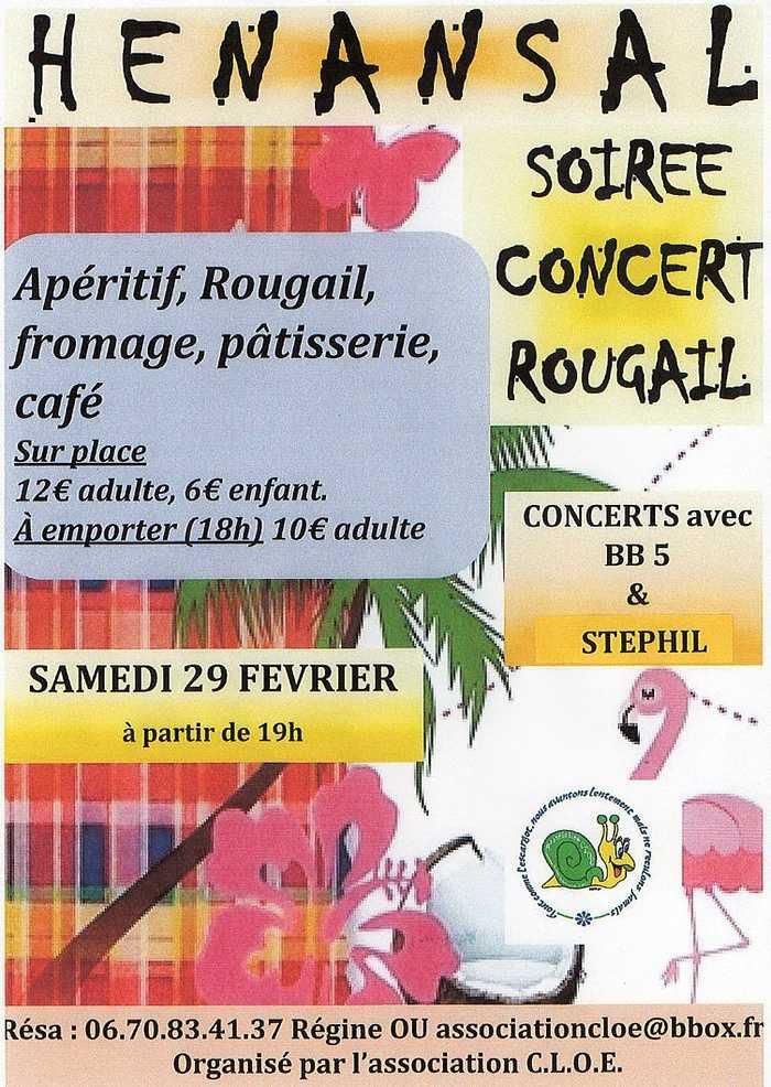 Samedi 29 février : soirée rougail/concert -association C.L.O.E 0