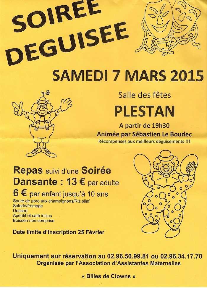 Soirée déguisée - samedi 7 mars 2015 - salle des fêtes de Plestan 0