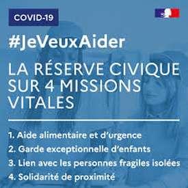 """Lancement de la plateforme """"jeveuxaider.gouv.fr – Réserve civique COVID-19"""" 0"""