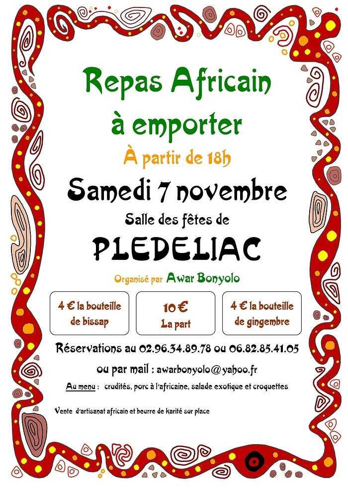 Samedi 7 novembre : repas africain à emporter - annulation en raison du confinement 0