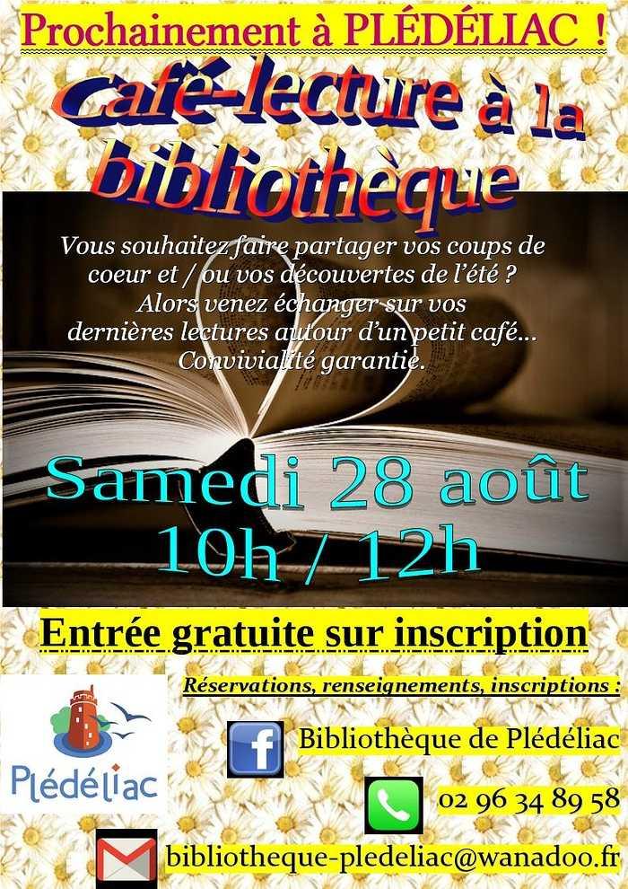 Samedi 28 août : café lecture à la bibliothèque 0